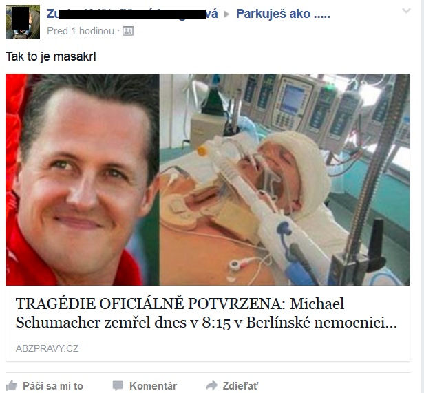 Schumacher zomrel