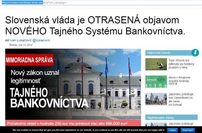 Slovenská vláda otrasena a akýsi šmejd CryptoTrader
