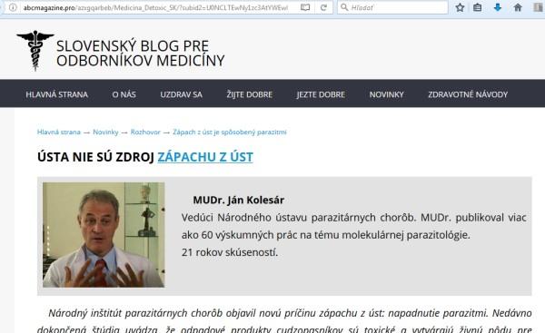 Slovenský blog odborníkov medicíny