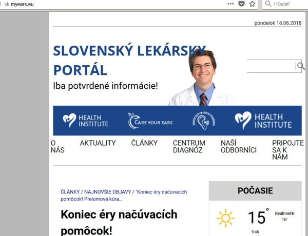 podvodný a neexistujúci slovenský lekársky portál
