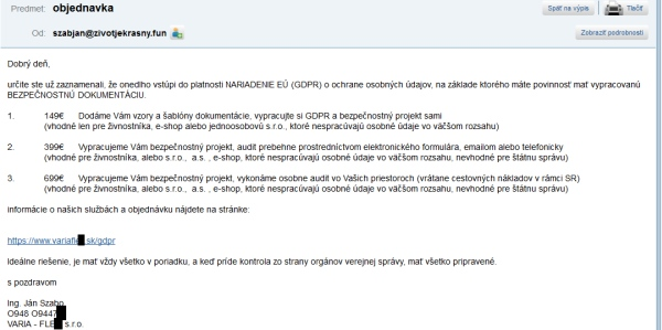 Spam GDPR