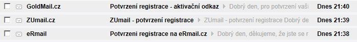 GoldMail.cz, ZUmail.cz a eRmail je jedna spamujúca rodina