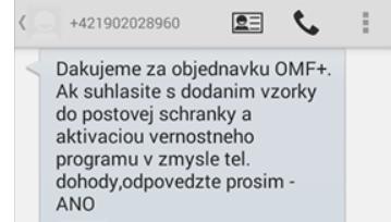 SMS súhlas