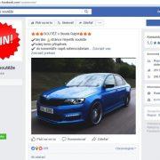 Podvodné súťaže na Facebooku v Čechách: stránka Největší soutěže