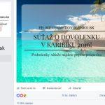 Súťaž o dovolenku, podvod na facebooku
