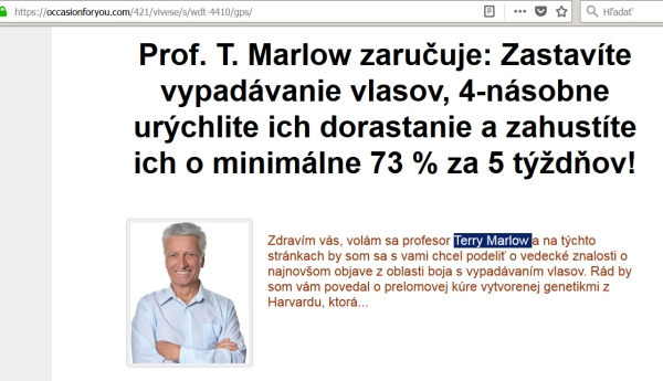Vivese Senso Duo schampoo terry Marrlow profesor