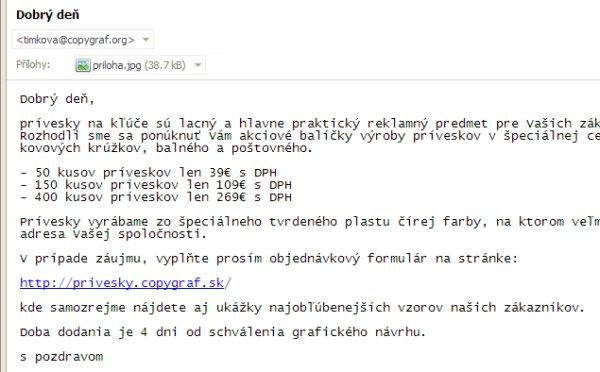 timkova copygraf spam