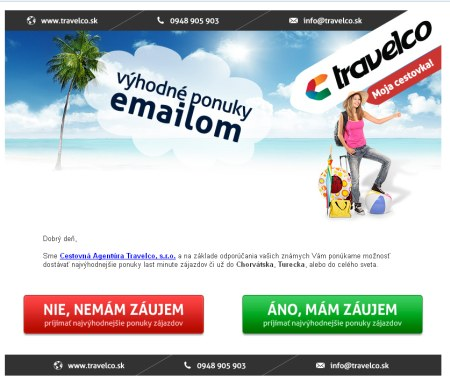 Travelco spam