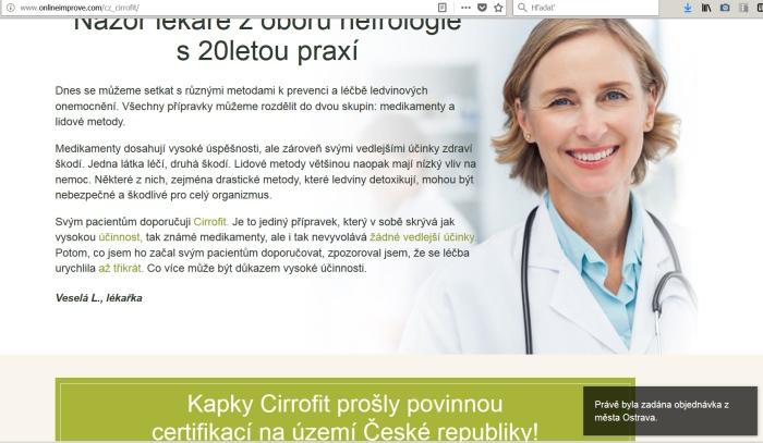 Cirrofit a lekárka Veselá