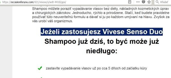 Vivese Senso Duo schampoo