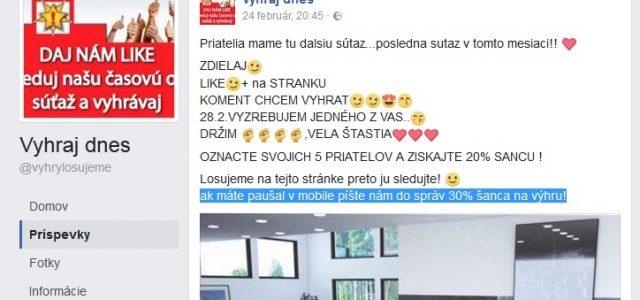 Podvodné súťažné stránky VYHRAJ DNES, tisíce Slovákov naletelo