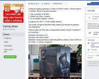 Pozor: Facebook súťaže na VYHRAJ DNES nie sú skutočné súťaže
