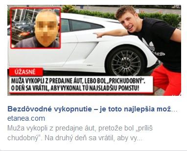 Vykopnutie v reklame na facebooku