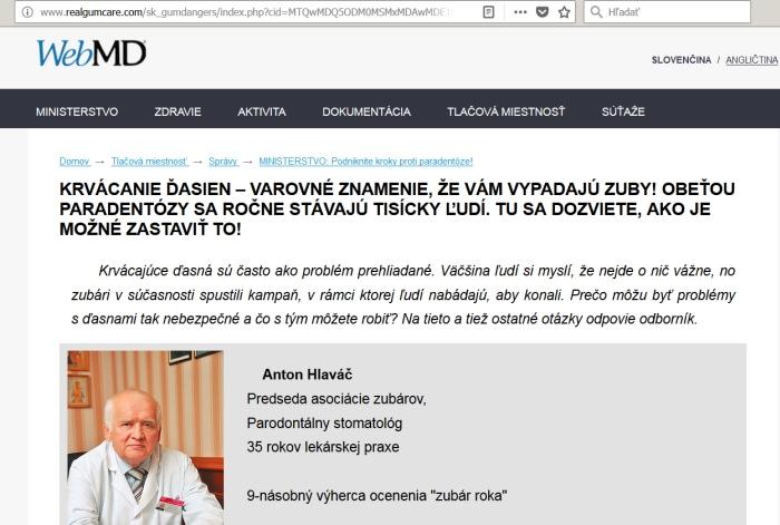 Paradont a falošný zubár Anton Hlaváč