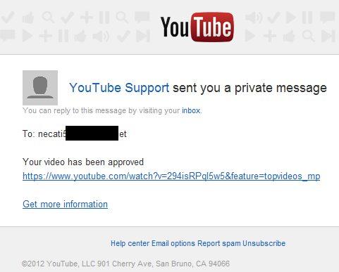 Falošné Youtube emaily podvod