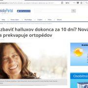 Falošná Melichárková, Zdravotnícky portál a šmejd HalluPro na Atlas.sk