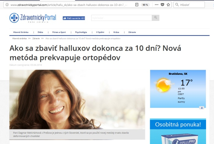 Zdravotnícky portál a Melichárková z Prešova fejk