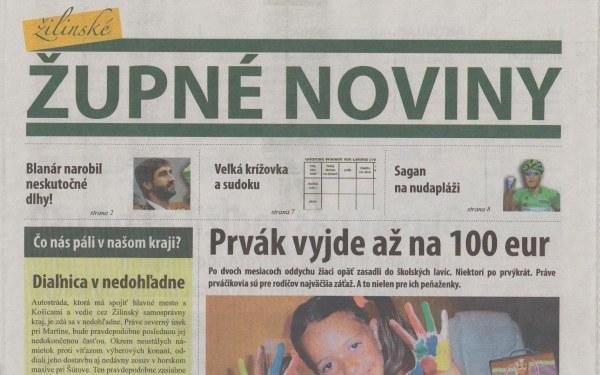 Župné noviny ŽSK - podvod