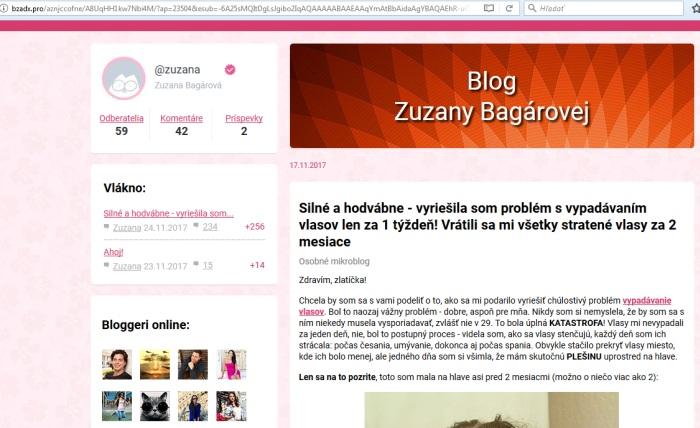 Zuzana Bagárová a Princess Hair prípravok